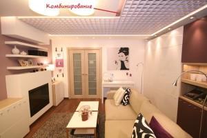 Комбинированный потолок с Грильято