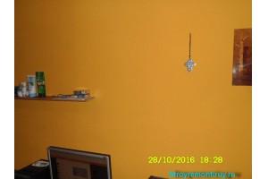 Стена после перекраски Снежкой Натюре