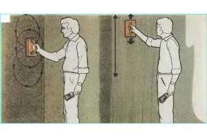 Амплитуда движения руки при перетирке стен