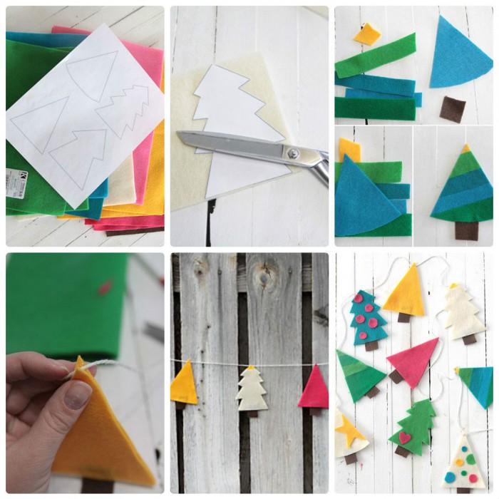 поделки из картона на Новый Год