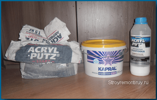 Гладь и грунт Acril-Putz